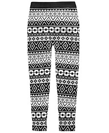Big Girls Fairisle Cable Knit Leggings, Created For Macy's