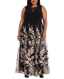 Plus Size Embroidered Dress