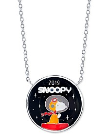 "Unwritten Astronaut Snoopy Pendant Necklace in Fine Silver-Plate, 16"" + 2"" extender"