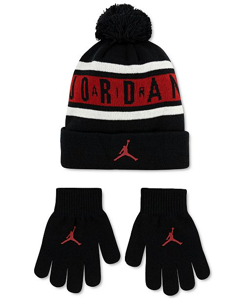 Jordan Big Boys 2-Pc. Beanie & Gloves Set