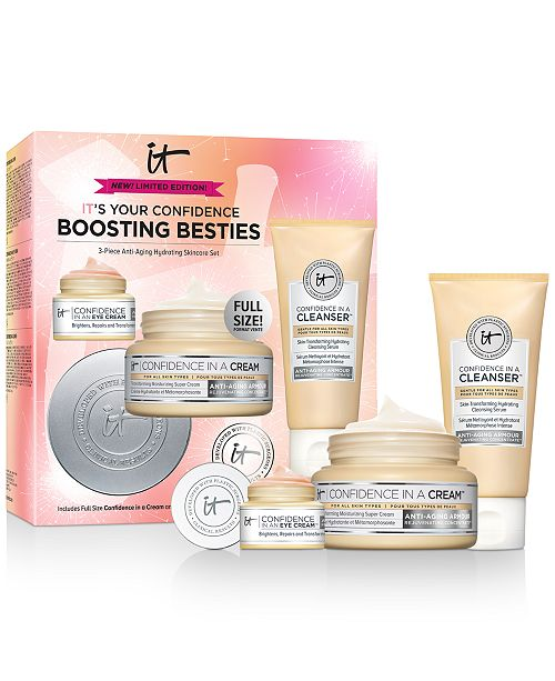 IT Cosmetics 3-Pc. IT's Your Confidence Boosting Besties Anti-Aging Hydrating Skincare Set