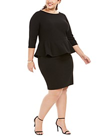 Plus Size Peplum Sheath Dress