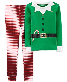 Little & Big Boys 2-Pc. Cotton Elf Pajama Set