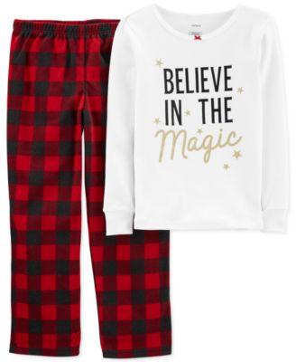 Little & Big Girls 2-Pc. Believe In The Magic Pajamas Set