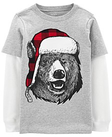 Big & Little Boys Cotton Layered-Look Bear T-Shirt