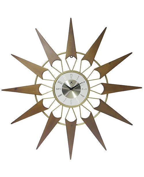 Infinity Instruments Starburst Wall Clock