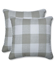 "Anderson Check 16"" x 16"" Outdoor Decorative Pillow 2-Pack"