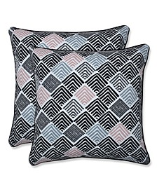 "Geometric 18"" x 18"" Outdoor Decorative Pillow 2-Pack"