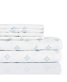 300 Thread Count with 2 Bonus Pillowcases, 6-PC Printed Full Sheet Set