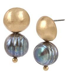 Robert Lee Morris Soho Mixed Bead Two-Step Earrings
