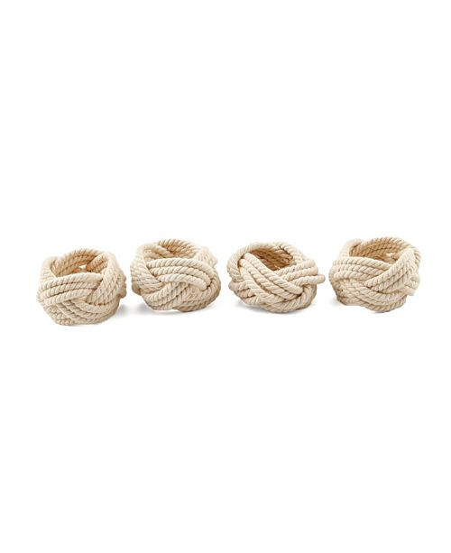 Thirstystone CLOSEOUT 4pc Rope Napkin Rings