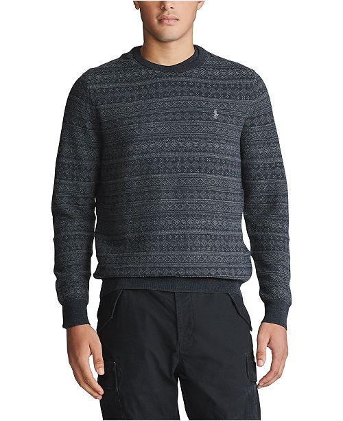 Polo Ralph Lauren Men's Merino Wool Long Sleeve Sweater