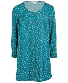 Big Girls Printed Button-Front Dress