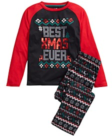 Big Boys 2-Pc. Best Xmas Pajama Set