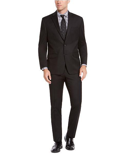 IZOD Men's Classic-Fit Black Solid Suit Separates
