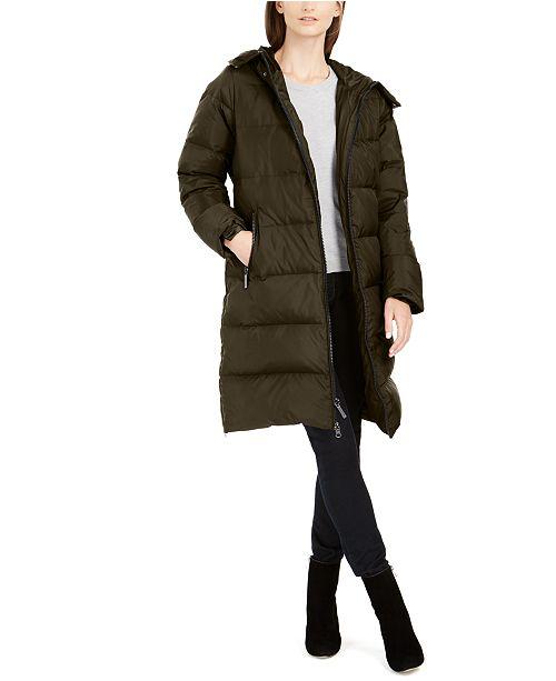 Michael Kors  Faux-Fur Collar Down Puffer Coat