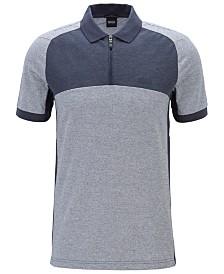 BOSS Men's Philix Slim-Fit Colour-Block Polo Shirt