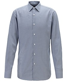 BOSS Men's T-Carl Micro-Check Slim-Fit Shirt