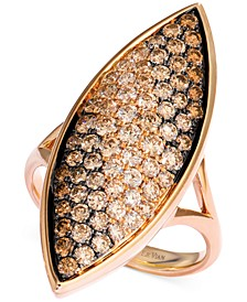 Soufflee® Diamond Leaf Statement Ring (1-5/8 ct. t.w.) in 14k Rose Gold