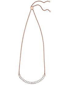 Wrapped in Love­™ Diamond Chain Link Adjustable Bolo Necklace (1/2 ct. t.w.) in 10k Rose Gold, Created For Macy's