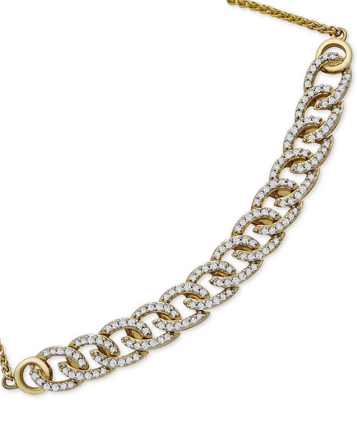 Wrapped in Love - Diamond Chain Link Bolo Bracelet (1/2 ct. t.w.) in 10k Gold