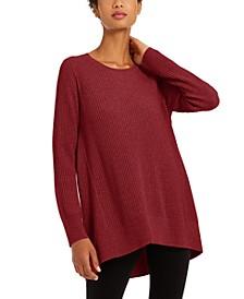 Crewneck Ribbed Tunic Sweater, Regular & Petites