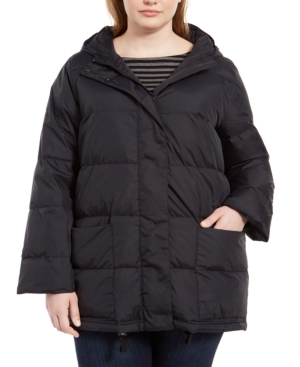 Eileen Fisher Coats PLUS SIZE HOODED PUFFER COAT