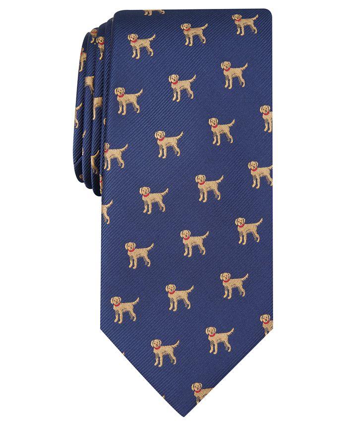 Club Room - Men's Labrador Convo Print Tie, Created For Macy's