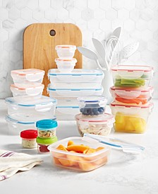 Easy Essentials Color Mates 36-Pc. Food Storage Container Set