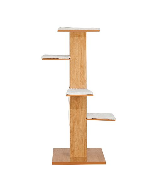 Elegant Home Fashions Multi Level Cushioned Cat Tree with Scratch Pads