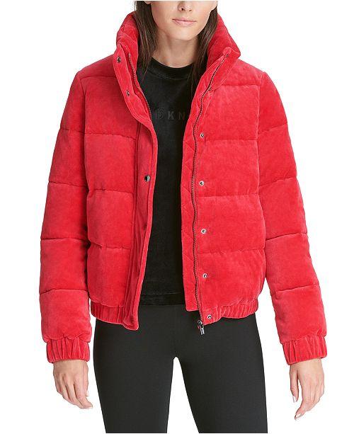 DKNY Sport Velour Puffer Jacket