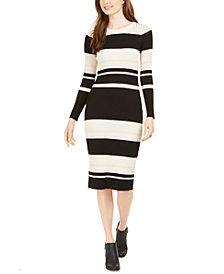 Taylor Striped Midi Sweater Dress