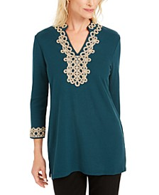 Lace-Trim Tunic Top, Created for Macy's