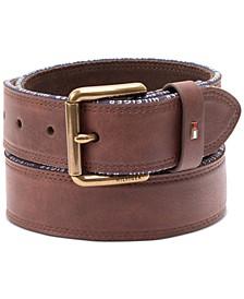 Men's Casual Faux-Leather Belt