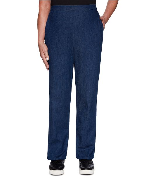 Alfred Dunner Autumn Harvest Pull-On Jeans