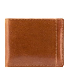 Casablanca Collection Men's RFID Secure Center Billfold with Removable Left Wing Passcase
