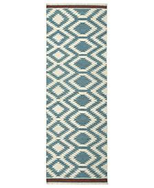 "Nomad NOM04-78 Turquoise 2'6"" x 8' Runner Rug"