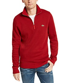 Men's French Rib Interlock Quarter-Zip Sweater