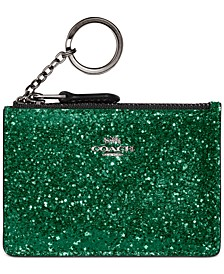 Glitter Leather ID Mini Purse