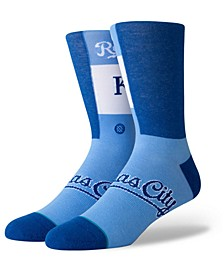 Kansas City Royals Pop Fly Crew Socks