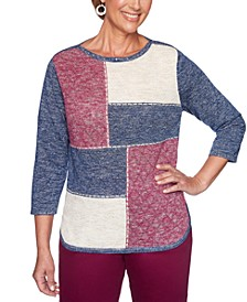 Petite Autumn Harvest Colorblocked Sweater
