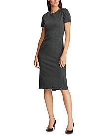 Shoulder-Button Knit Dress