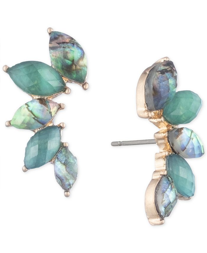 lonna & lilly - Gold-Tone Stone Climber Earrings