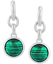 Malachite Drop Earrings in Sterling Silver