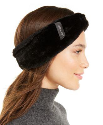 Solid Faux Fur Headband