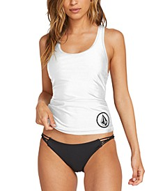 Juniors' Simply Solid Racerback Tankini Top & Strappy-Side Bikini Bottoms