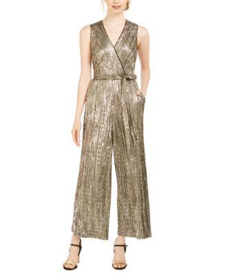 Sequined Metallic Jumpsuit