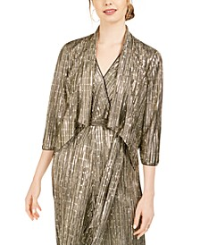 Draped Metallic Bolero Jacket