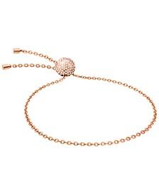 Rocking Stainless Steel PVD White Swarovski Crystal Sphere Adjustable Bracelet