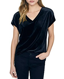 Cassia High-Low Velvet Top